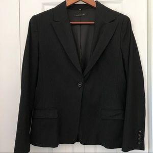 Elie Tahari Black Pinstriped Blazer Size 12